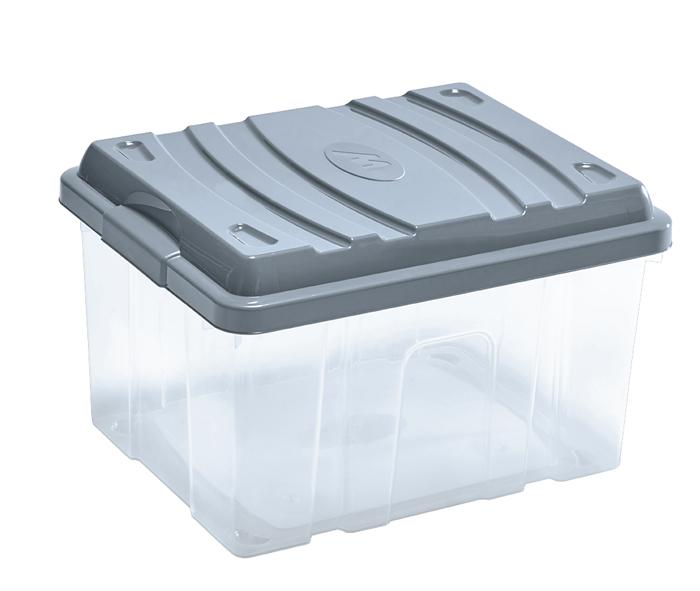 scatola per riporre oggetti in plastica con coperchio