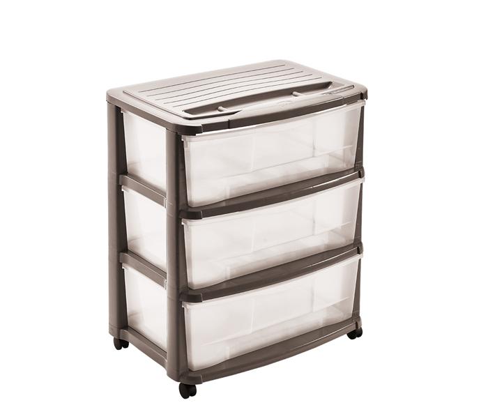 cassettiera 3 cassetti in plastica mazzei home