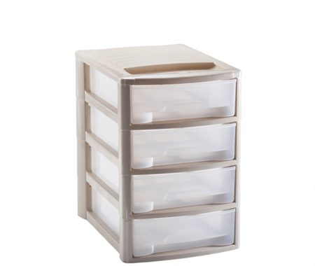 cassettiera 4 cassetti in plastica mazzei home