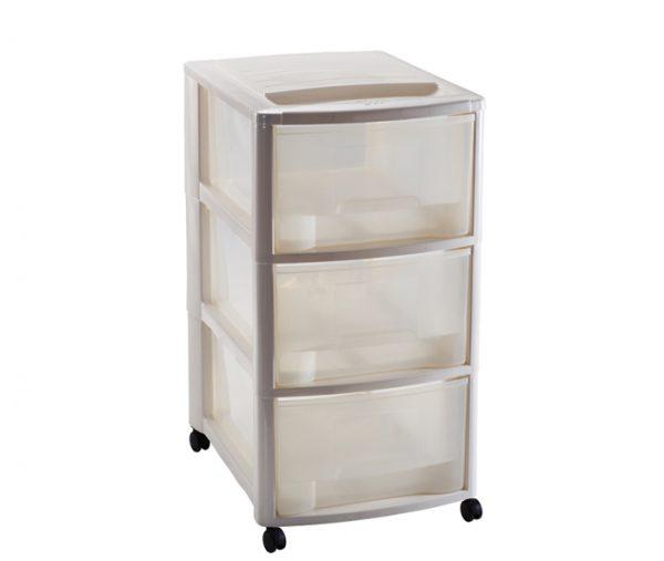 cassettiera con ruote e cassetti formato A4 mazzei home