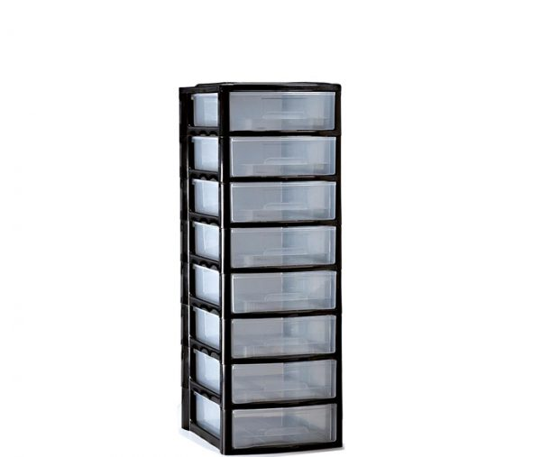 cassettiera 8 cassetti in plastica mazzei home