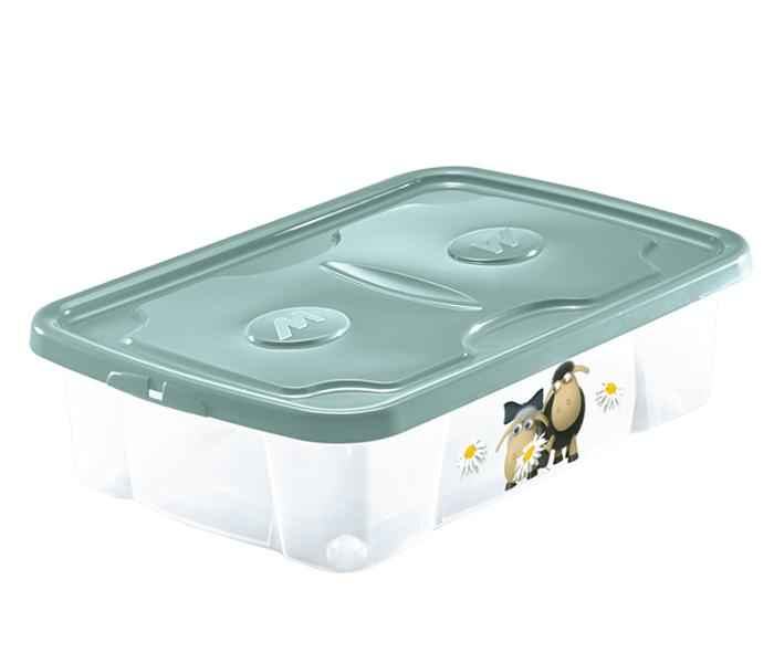 scatola plastica con coperchio e stampa animali mazzei home