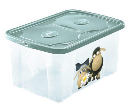 scatola per riporre roba bambini con stampe simpatiche mazzei home
