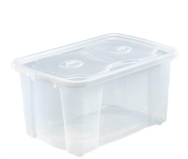 scatola in plastica con coperchio per riporre oggetti prodotta da mazzei home