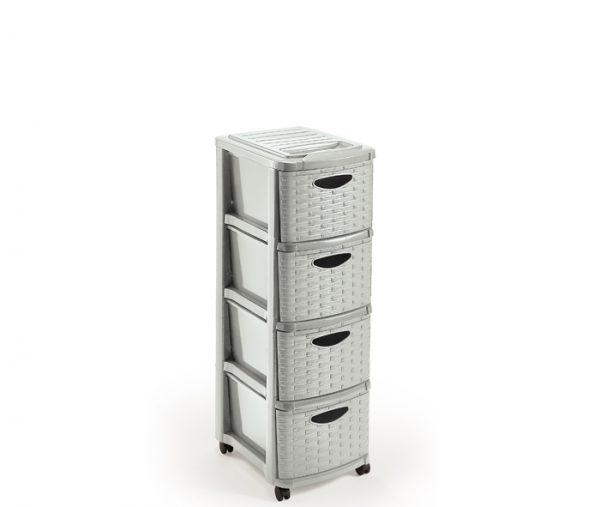 cassettiera 4 cassetti con ruote mazzei home