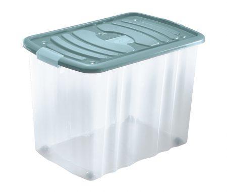 scatola per oggetti con coperchio e ruote mazzei home