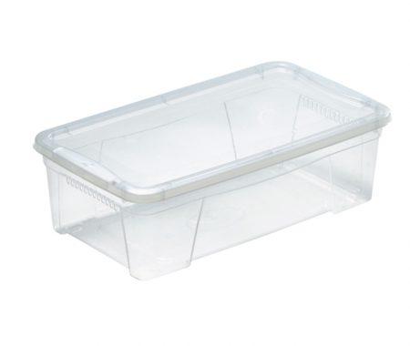 bassa scatola trasparente con coperchio mazzei home
