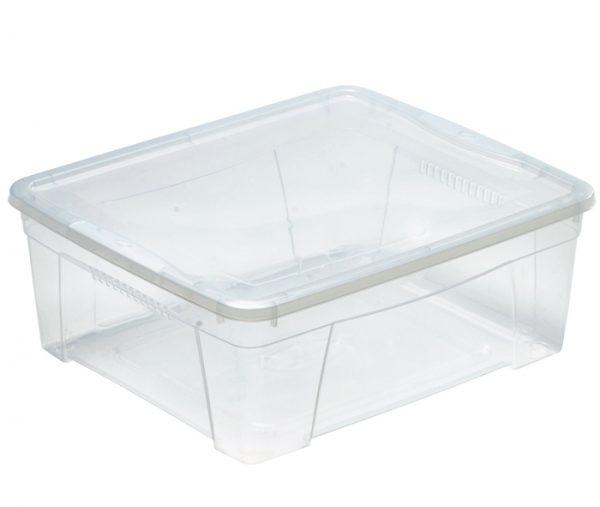 bassa scatola in plastica trasparente con coperchio mazzei home