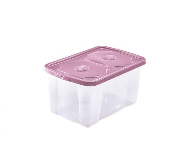 scatola trasparente con coperchio rosa prodotta da mazzei home