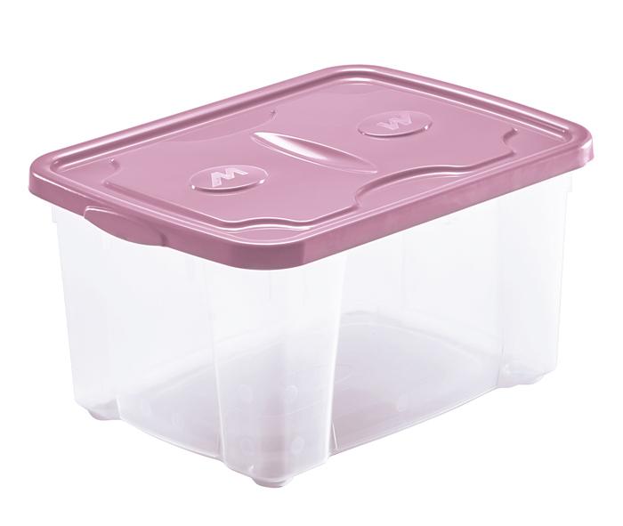 scatola in plastica con coperchio rosa di produzione mazzei home