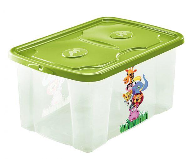 scatola per roba bimbi con stampa animali mazzei home