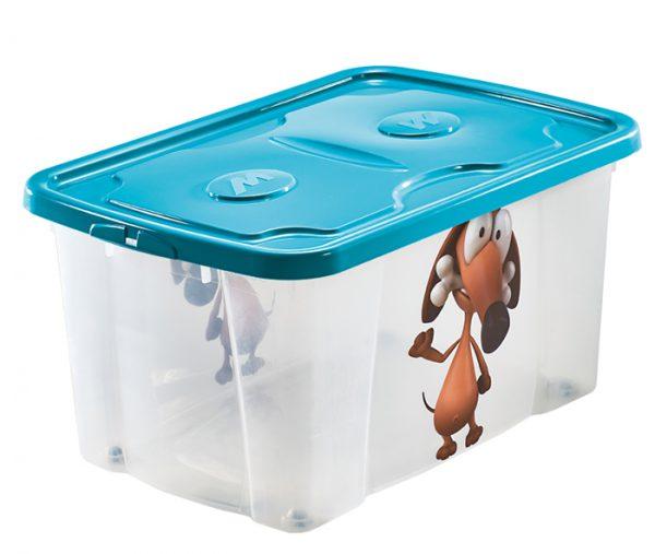 scatola per mettere aposto roba bimbi con stampa cane mazzei home