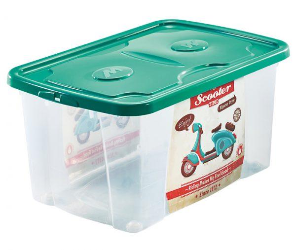 scatola per sistemare roba bimbi con stampa scooter di mazzei home