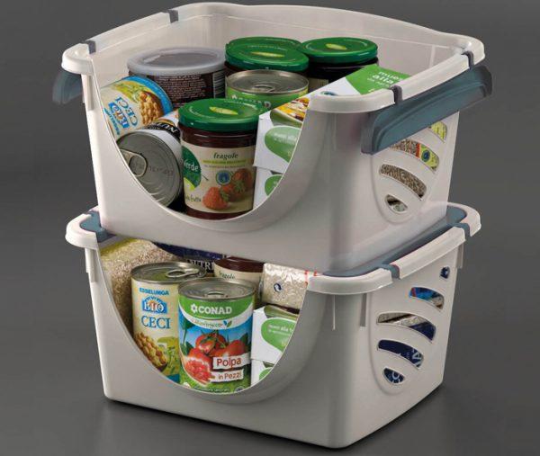cestino impilabile per contenere cibo mazzei home