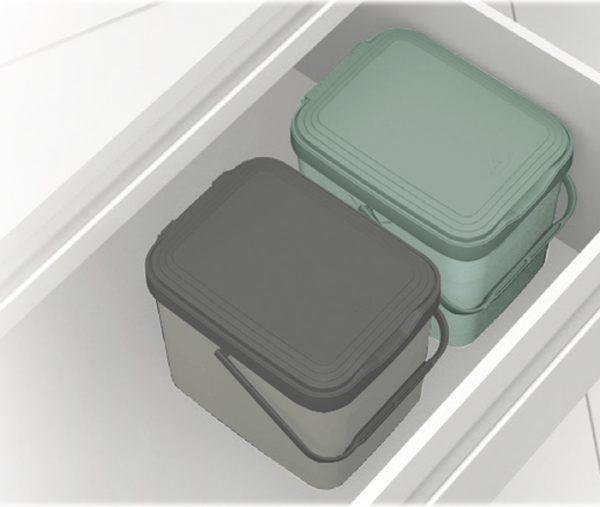 pattumiere accoppiate in cassetto cucina