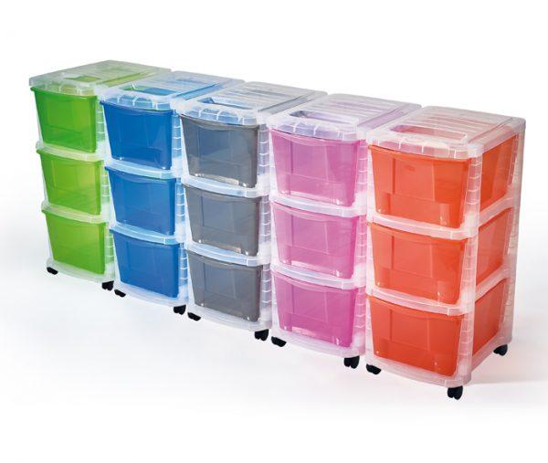 cassettiere colorate tre cassetti in plastica mazzei home larciano