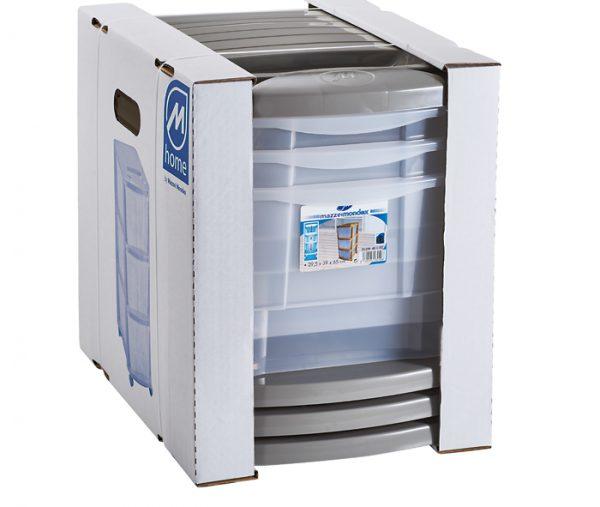 confezionamento cassettiera in plastica mazzei home