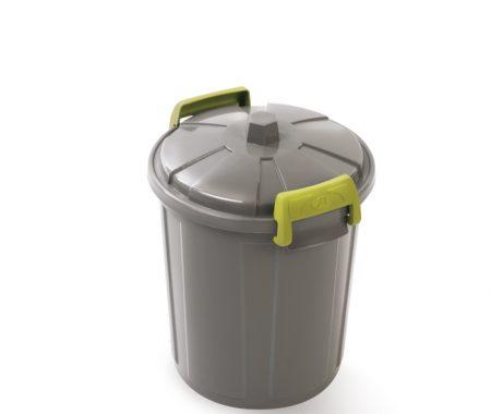 contenitore per spazzatura con coperchio e maniglie