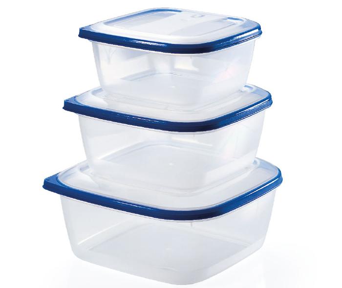 set di 3 contenitori per alimenti quadrati