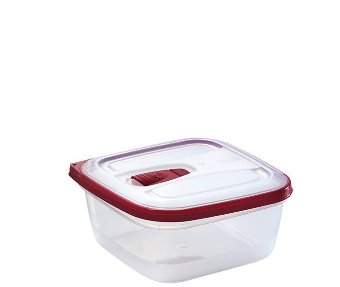 contenitore per alimenti quadrato con valvola per micro-onde