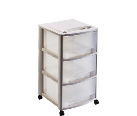 cassettiera tre cassetti con ruote mazzei home
