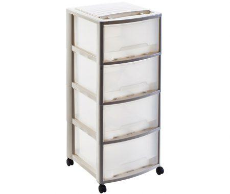 cassettiera in plastica 4 cassetti mazzei home