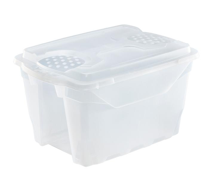 scatola brico in plastica trasparente con coperchio