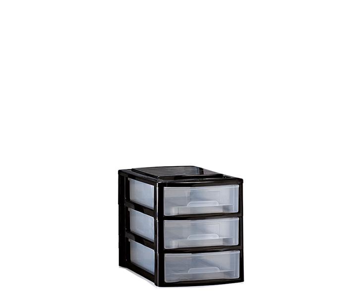 piccola cassettiera in plastica tre cassetti mazzei home