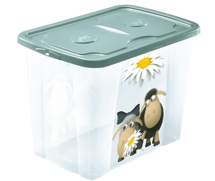 scatola con coperchio per riporre roba bimbi con simpatiche stampe mazzei home