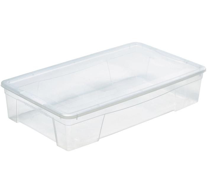 scatola bassa e ampia in plastica trasparente mazzei home