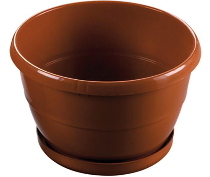 vaso con sottovaso per piante