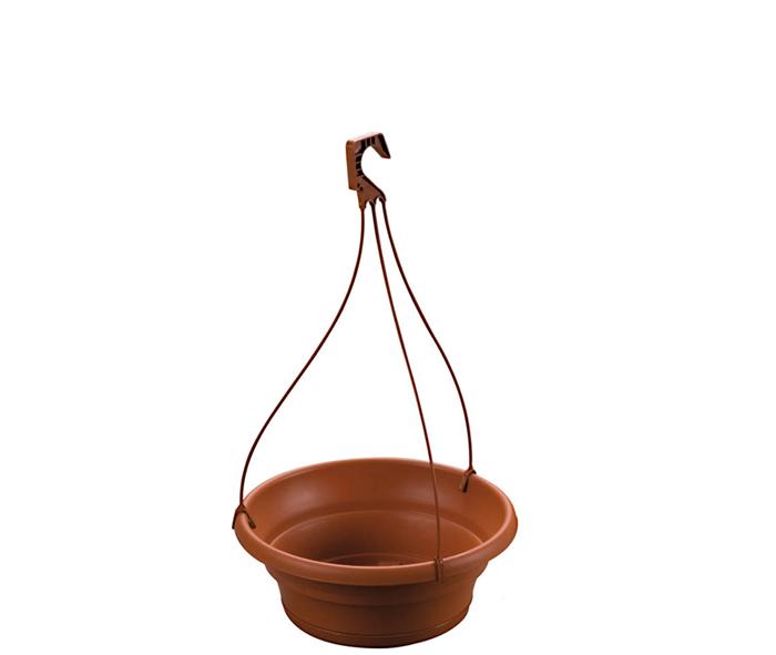 ciotola con sottociotola e gancio per piante